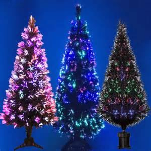 black fibre optic christmas tree colour changing 2ft 3ft