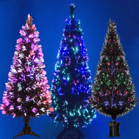 black fibre optic christmas tree colour changing 2ft 3ft