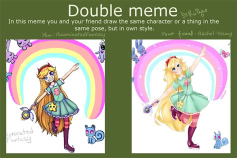 Double Meme - double meme with rachel young by illuminatedfantasy on