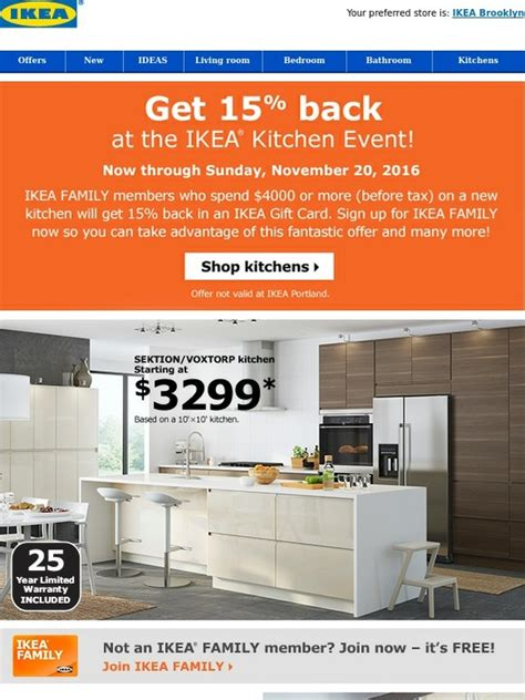 ikea kitchen event ikea sizzling savings at the ikea kitchen event milled