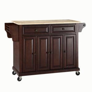 Crosley Kitchen Islands 52 In Natural Wood Top Kitchen | crosley 52 in natural wood top kitchen island cart in
