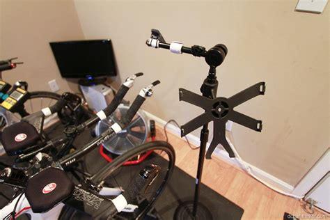Diy How I Made A Trainer Bike Computer Ipad Phone Stand Diy Bike Desk