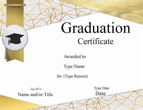 graduation certificate template customize  print