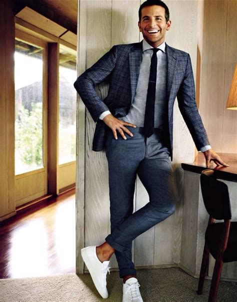 Bradley S Casual Grey grey navy with white shoes casual