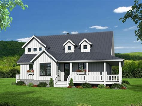 Two Story Country House Plans by 062h 0132 Two Story Country House Plan With Wrap Around