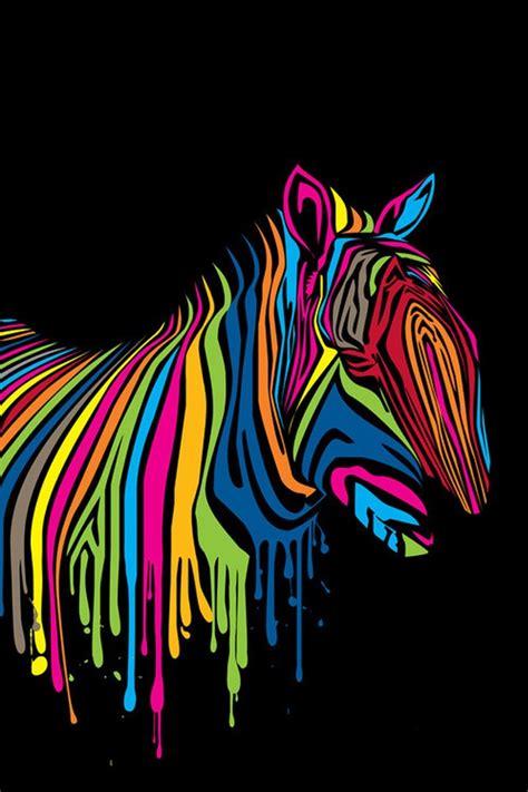 colorful zebra design
