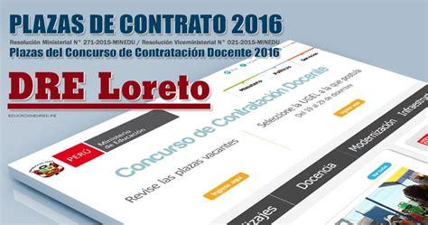 plazas vacantes para adjudicacion contrato docente 2016 ugel lambayeque dre loreto plazas vacantes contrato docente 2016 pdf