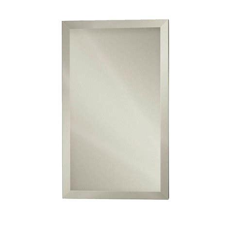 16 x 24 recessed medicine cabinet zenith 16 in x 24 in frameless beveled swing door