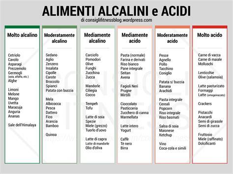 acido basico alimentazione alimenti acidi e alcalini quali i benefici e le