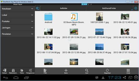 Advan Vandroid S5j Blue cara mengambil file dari hardisk dari bluestacks barisan