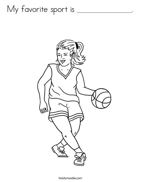 coloring pages of girl basketball players my favorite sport is coloring page twisty