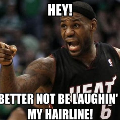 Receding Hairline Meme - the 50 meanest lebron james hairline memes of all time