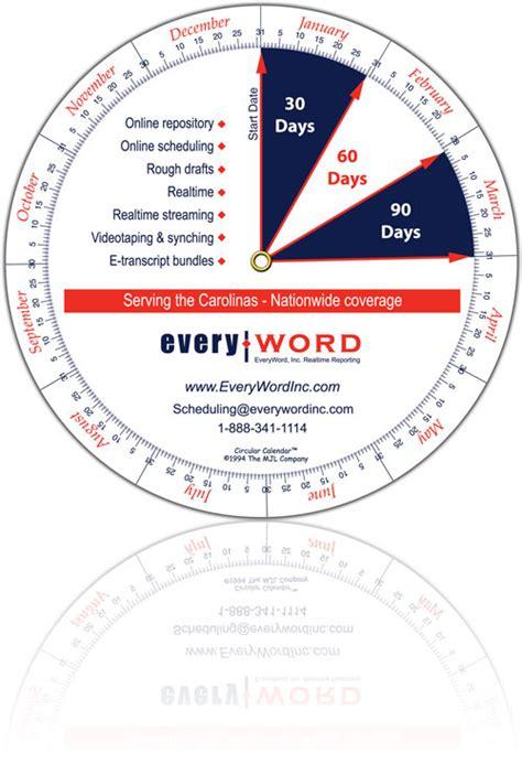 circular calendar template circular calendar custom calendar wheels