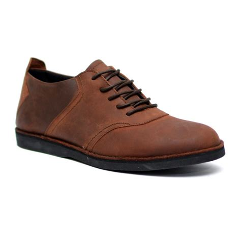 Sepatu Casual Pria Mibil Low Boots Brown Sepatu Boots Bandung sepatu kulit casual spectre brown mall indonesia