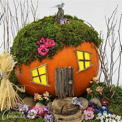 pumpkin house pumpkin fairy house a pumpkin house for fairies