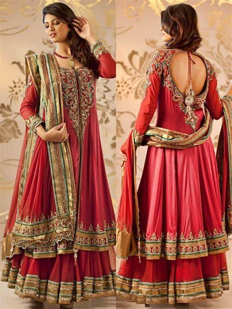 Opulent Clothing Stunning Style Of Anarkali Wear In Wedding 13