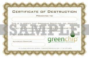 certificate of recycling template certificate of recycling