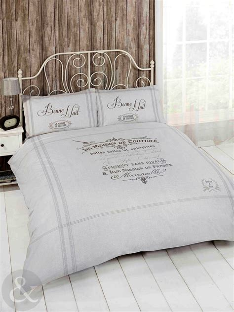 french shabby chic duvet cover luxury natural beige grey