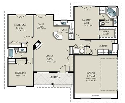 simple open floor plans ranch open concept could work with the mudroom would to add bedroom office