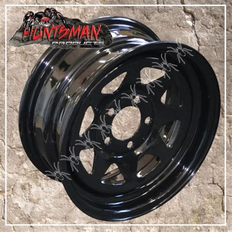 15in trailer rims 14 quot black powdercoated hq holden