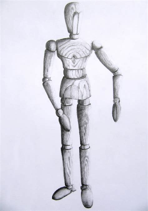 Drawing Mannequin by Mannequin Sketch Arted