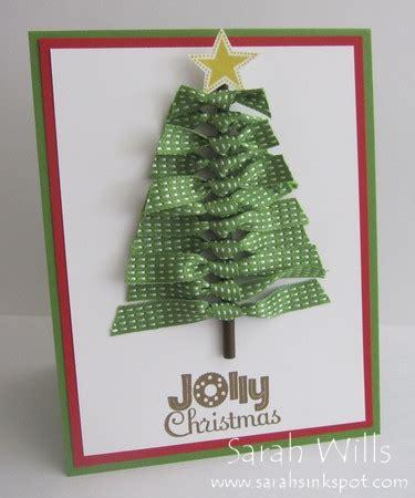 christmas tree made of stitched satin ribbons sarahs