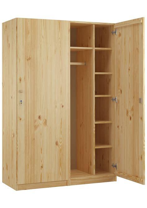 Schrank Zusammenbauen by Holzschrank Spind Eint 252 Rig Kiefer Massiv Mit Vielen