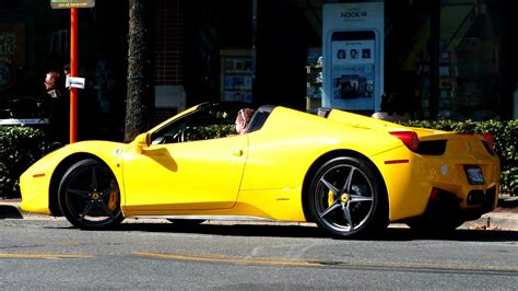 Ferrari 458 Spider Yellow by Yellow Ferrari 458 Spider Youtube