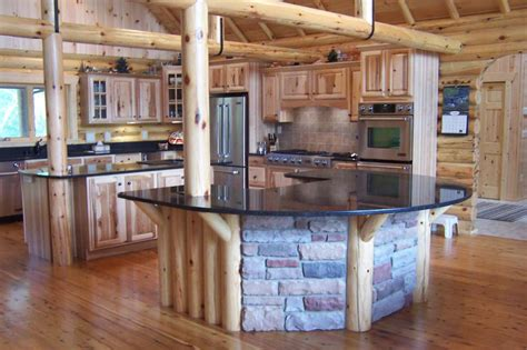 Log Home Kitchen Gallery most creative log home kitchen the chorney northwoods