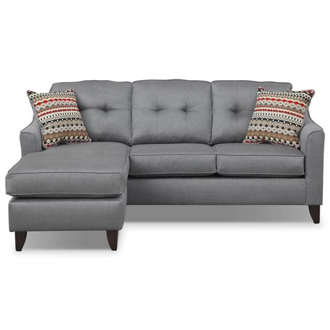gray couch with chaise marco chaise sofa gray american signature furniture