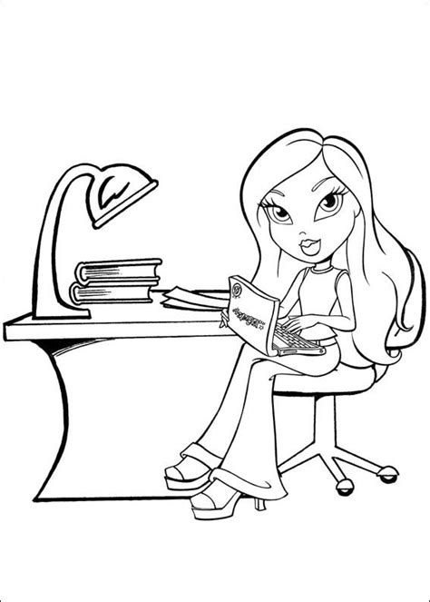 Coloring Page Of A bratz coloring pages bratz coloring pages