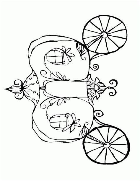 pumpkin carriage coloring page cinderella pumpkin carriage coloring pages cinderella