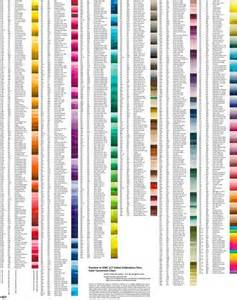 thread colors pantone colors to dmc thread chart embroidery