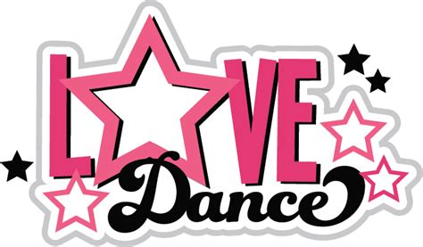 Monogram Wall Sticker love to dance clipart clipart suggest