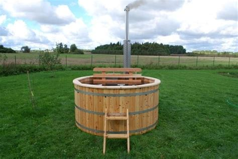 wooden barrel bathtub 17 best images about jacuzzi on pinterest gardens the