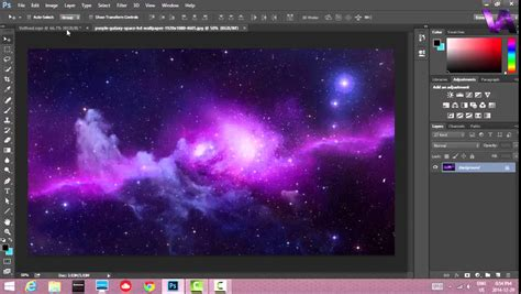 tutorial photoshop galaxy photoshop cs6 3d galaxy vathus logo speed art youtube