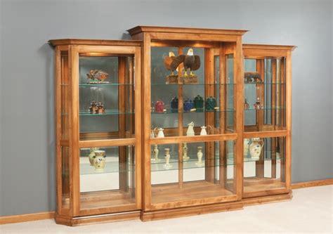 Curio Cabinet Sliding Door Dluxe Sliding Door Curio Amish Swings Amp Things