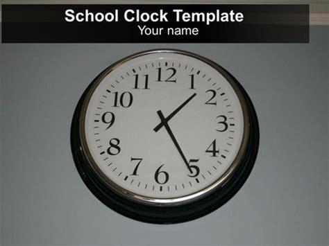 powerpoint themes clock free school clock powerpoint template