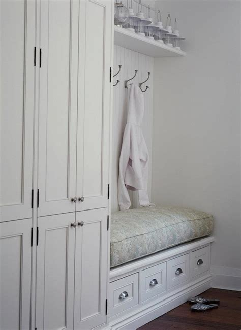 built in bench mudroom built in storage bench cottage laundry room jennifer