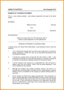 Witness Statement Template Family Court by Witness Statement Template Bestsellerbookdb