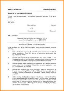 witness statement template bestsellerbookdb