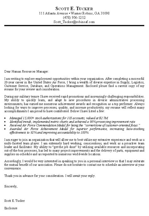 Resume Cover Letter Government Government Cover Letters Best Letter Exles