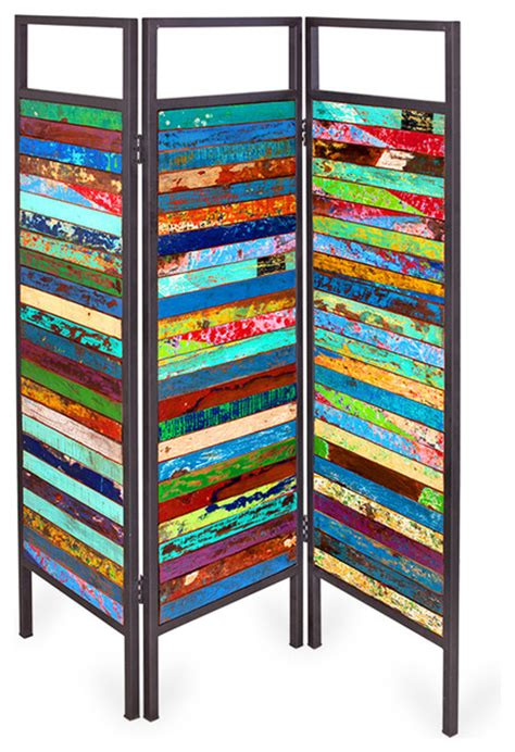 Reclaimed Wood Room Divider Sea Nery Outdoor Reclaimed Wood Screen Contemporary Screens And Room Dividers By Ecochic