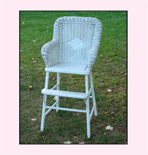 vintage wicker high chair shabby chic baby by wicker blog www wickerparadise com wicker