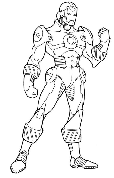 Free Printable Ironman Coloring Pages: The Tony Stark