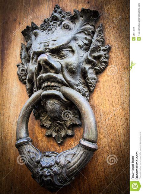 devil head door knocker royalty  stock image image