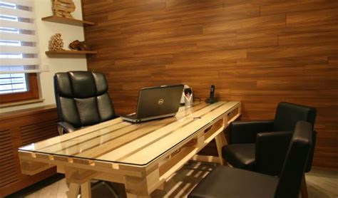 very nice wood desk and credenza inyouroffice weekend project 19 diy pallet desks a nice way to save