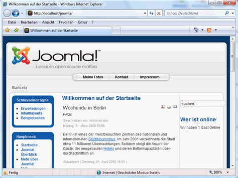 Tutorial In Joomla | module und plugins in joomla 1 5 joomla cms tutorials de
