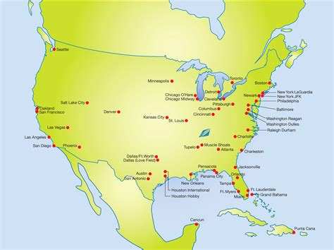 map airports west coast usa map us east coast airports 13 flights airlines and world