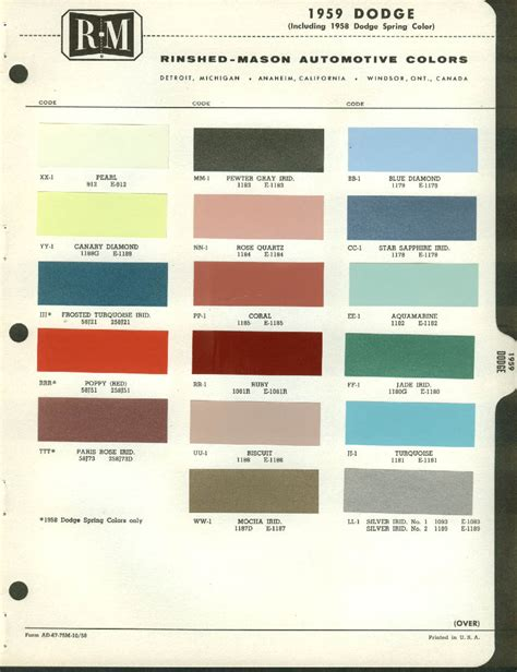 general motors new color chart html autos post
